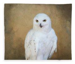 Snowy White Fleece Blanket