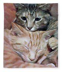 Snuggling Kittens Fleece Blanket