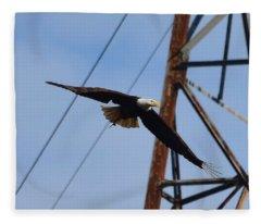 Soaring Bald Eagle Fleece Blanket