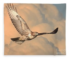 Soaring Hawk Fleece Blanket