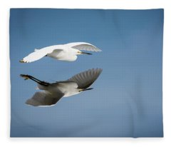 Soaring Over Still Waters Fleece Blanket