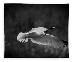 Soaring Seagull Fleece Blanket