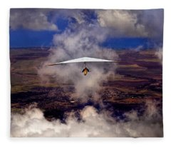 Soaring Through The Clouds Fleece Blanket