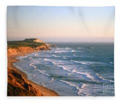 Socal Sunset Ocean Front Fleece Blanket
