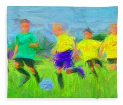 Soccer 3 Fleece Blanket