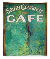 Soco Cafe Doors Fleece Blanket