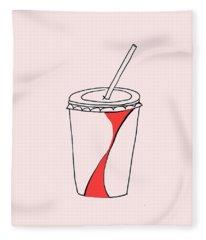 Soda Cup Fleece Blanket