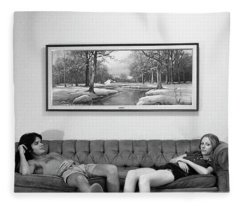Sofa-sized Picture, With Light Switch, 1973 Fleece Blanket
