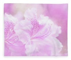 Soft And Lovely Pink Rhododendrons  Fleece Blanket