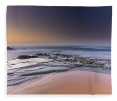 Soft And Rocky Sunrise Seascape Fleece Blanket