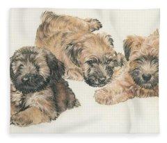 Soft-coated Wheaten Terrier Puppies Fleece Blanket