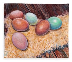 Soft Eggs Fleece Blanket