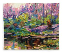Soft Evening Light Plein Air Fleece Blanket
