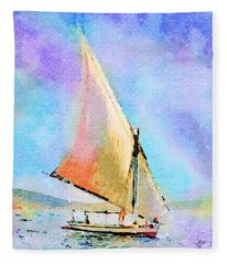 Soft Evening Sail Fleece Blanket