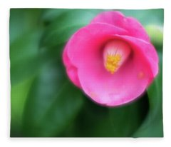 Soft Focus Flower 1 Fleece Blanket