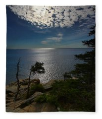 Soft Light On Otter Point Fleece Blanket