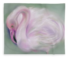 Soft Pink Flamingo Fleece Blanket