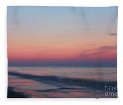 Soft Pink Sunrise Fleece Blanket