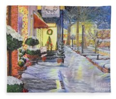 Soft Snowfall In Dahlonega Georgia An Old Fashioned Christmas Fleece Blanket