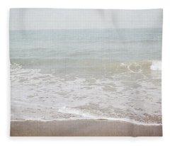 Soft Waves- Art By Linda Woods Fleece Blanket