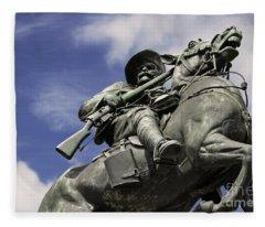 Soldier In The Boer War Fleece Blanket