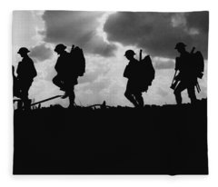 Soldier Silhouettes - Battle Of Broodseinde  Fleece Blanket