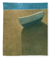 Solitary Boat Fleece Blanket