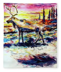 Solitude Caribou Fleece Blanket