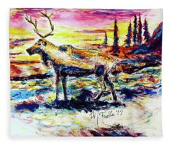 Solitude Caribou Fleece Blanket