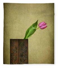 Solitude In Bloom Fleece Blanket