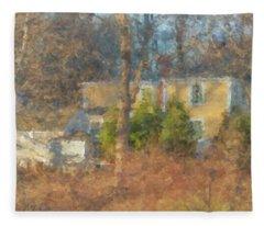 Solstice Morning Light On Colonial Home Fleece Blanket