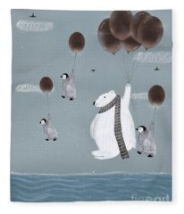 Some Day I'll Fly Away Fleece Blanket