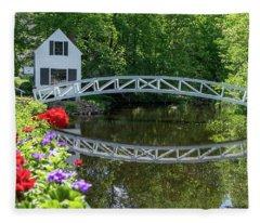 Somesville Bridge Fleece Blanket
