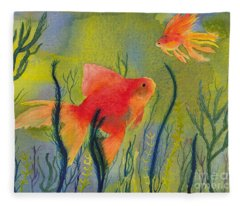 Something Fishy Going On Fleece Blanket