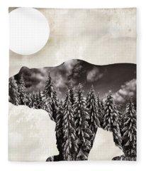 Something Wild Bear Fleece Blanket
