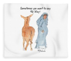 Sometimes You Want To Say No Way Christian Watercolor Painting By Kmcelwaine Fleece Blanket