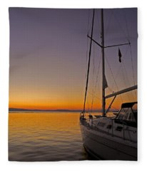 Somewhere Beyond The Sea ... Fleece Blanket