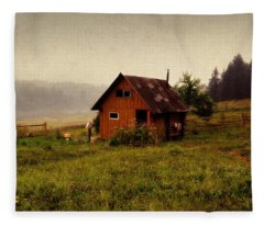 Somewhere In The Countryside. Russia Fleece Blanket