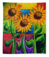 Sonflowers II Fleece Blanket
