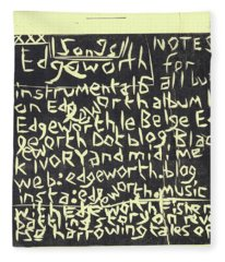 Song Notes Title Page A-l Fleece Blanket