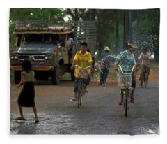 Songkran In Vientiane, Laos Fleece Blanket