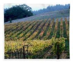 Sonoma County Vineyards Near Healdsburg Fleece Blanket
