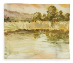 Sonoma Pond Ca Fleece Blanket
