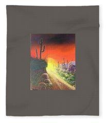 Sonora Sunrise Fleece Blanket