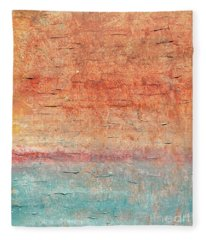 Sonoran Desert #1 Southwest Vertical Landscape Original Fine Art Acrylic On Canvas Fleece Blanket