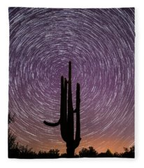 Sonoran Star Trails Fleece Blanket