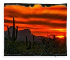 Sonoran Sunset H38 Fleece Blanket