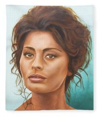 Sophia Loren Fleece Blanket