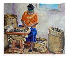 Sorting Nutmegs Fleece Blanket