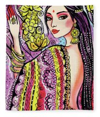 Soul Of India Fleece Blanket